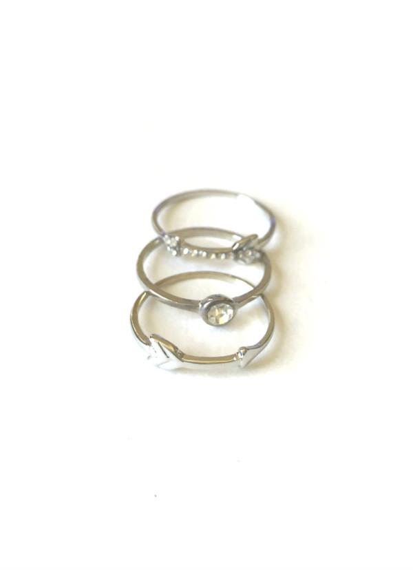 silver stck rings
