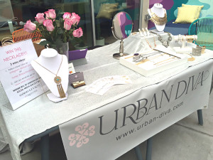 Urban Diva Jewelry booth at FABDILab