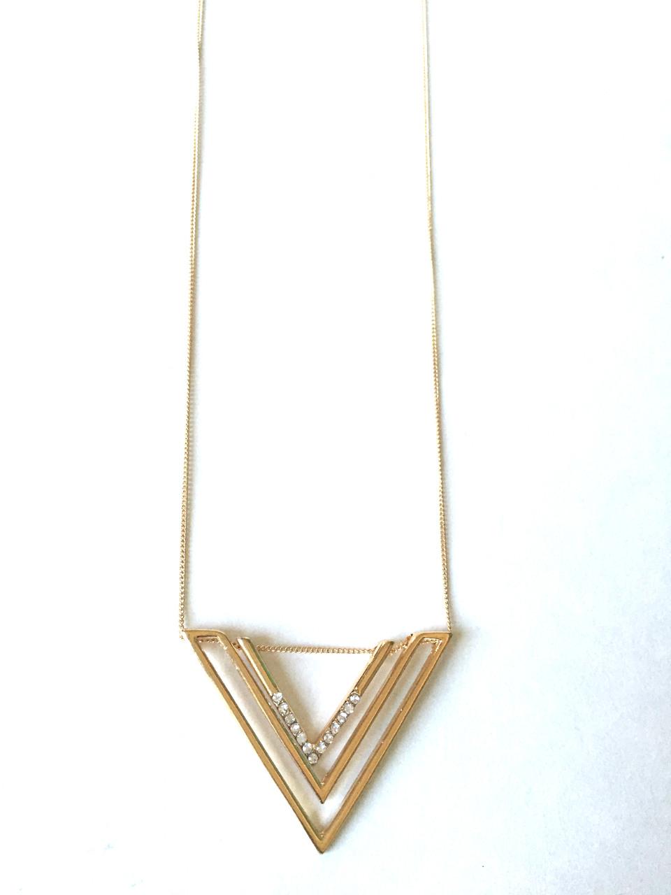 layered chevron pendant necklace jewelryurban